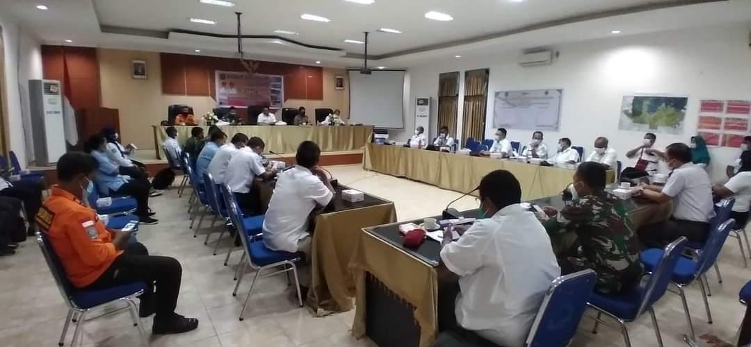 Kapolres Sorong Di wakili Kabag Ops Hadiri Rapat Koordinasi Tim Reaksi Cepat (TRC) Penanggulangan Bencana Kab. Sorong Tahun 2021