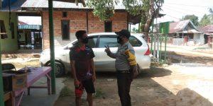 Bhabinkamtibmas Kelurahan Maklalut Sambangi Warga Binaan, Sampaikan Pesan Kamtibmas