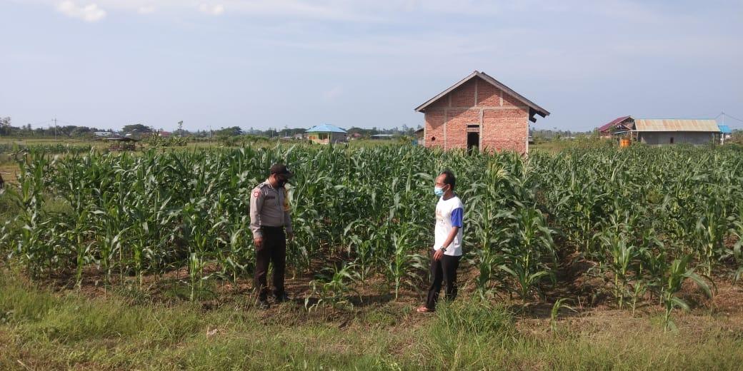 Kanit Binmas Polsek Aimas Laksanakan Patroli Dialogis Dan Sambangi Kampung Berdikari (Munu Yabanonti)