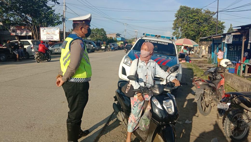 Operasi Yustisi, Sat Lantas Himbau Masyarakat Menggunakan Masker Saat Beraktivitas