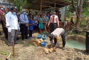 Kapolsek Salawati Di Wakili Bhabinkamtibmas Hadiri Peletakan Batu Pertama Pembangunan Gereja Pantekosta Tabernakel Kristen Ajaib