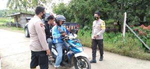Polsek Salawati Laksanakan Operasi Yustisi Prokes Penertiban Penggunaan Masker