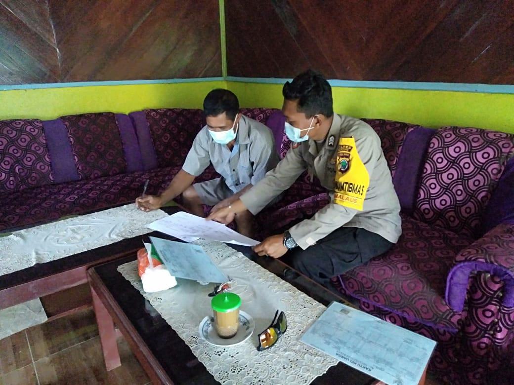 Bhabinkamtibmas Sambang Kepala Kampung Wen Distrik Mayamuk Lakukan Koordinasi Kamtibmas