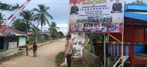 Anggota Polsek Aimas laksanakan Patroli dan Sambang Kampung berdikari Kelurahan Maklalut di jalan Melati Sp.2