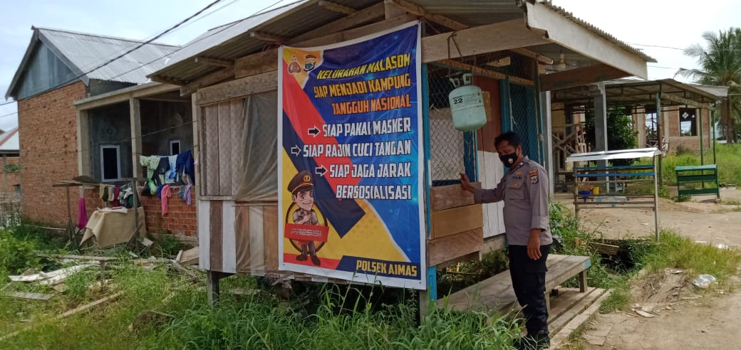 Anggota Jaga Polsek Aimas Patroli Sambangi Kampung KTN Malasom Dan Kampung KTN Maklalut
