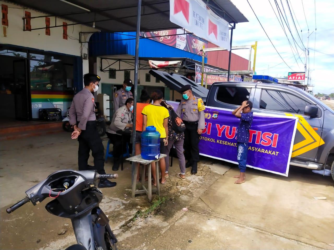 Tim Satgas Aman Nusa 2 Polres Sorong Tahun 2021, Lakukan Patroli Dan Edukasi Masyarakat Tentang Protokol Kesehatan
