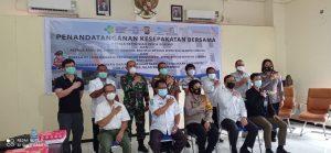 Penandatanganan MOU Tentang Penanganan Kecelakaan Lalu Lintas Dan Penyelesaian Santunan Oleh PT. Jasa Raharja Serta BPJS Kesehatan Sorong Secara Terpadu.