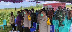 Lawan Covid -19, Polres Sorong Bersama Forkopimda ikuti Launcing 100 Kampung Yaba Nonti Kampung Tangguh Papua Barat