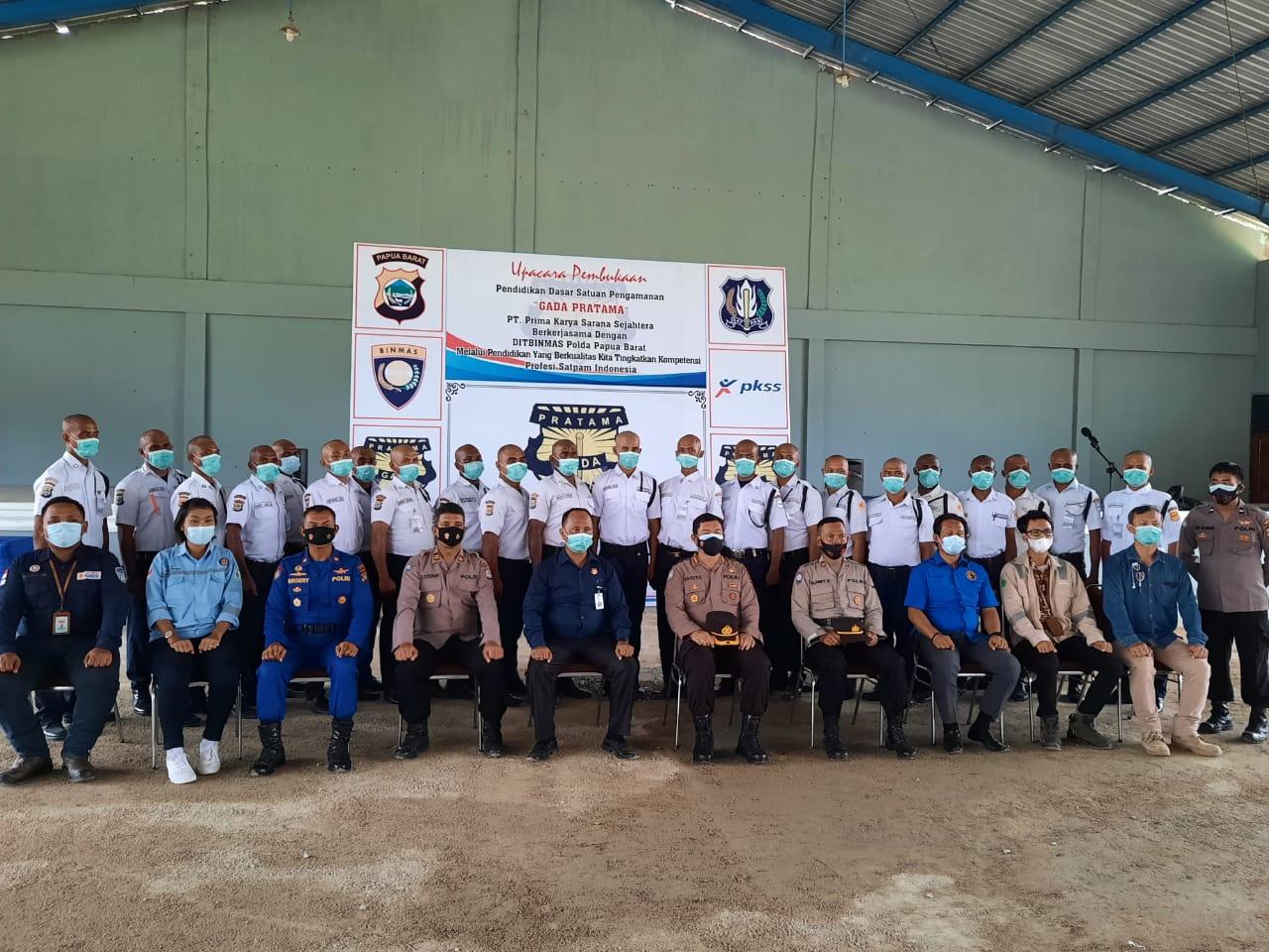 Kapolres Sorong Hadiri Pembukaan Pendidikan Dasar (Diksar) satpam Gada PratamaAngkatan 20 tahun 2021