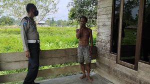 Polsek Beraur Laksanakan Patroli Dialogis Di Kampung-Kampung Wilkum Polsek Beraur