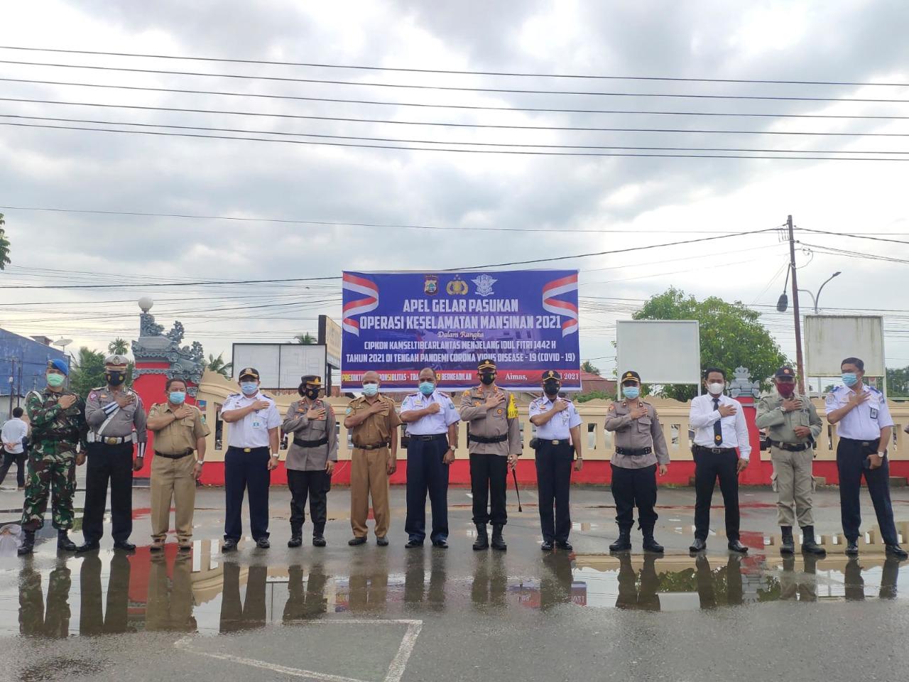 Apel Gelar Dalam Rangka Operasi Keselamatan Mansinam Tahun 2021.