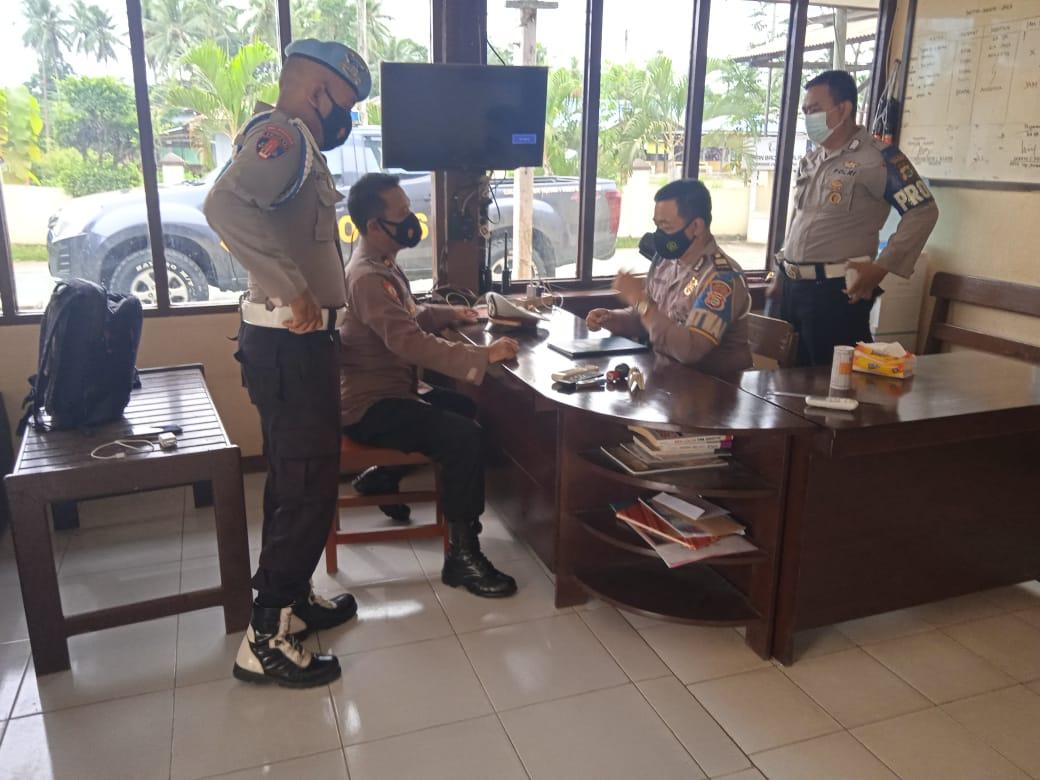 Tim Asistensi Polres Sorong  Kunjungan ke polsek salawati  dalam rangka  Ops Keselamatan mansinam 2021