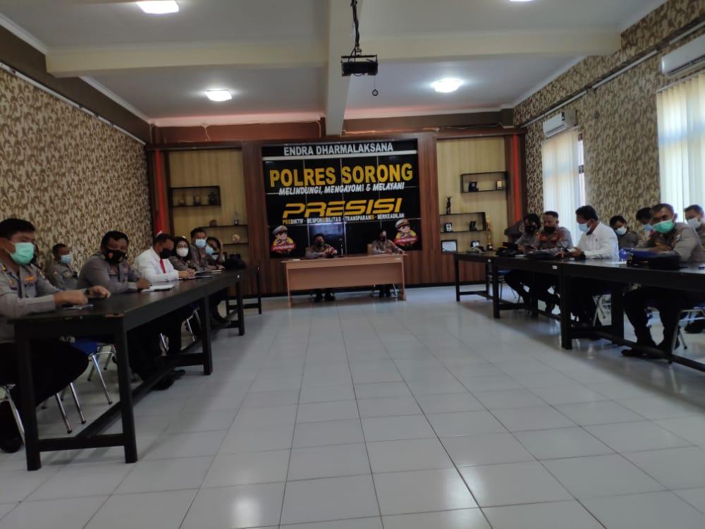 Kapolres Sorong pimpin rapat persiapan Operasi Ketupat Mansinam 2021