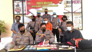 Press release kasus narkoba jenis ganja