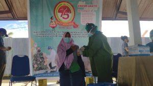 Dalam rangka HUT Bhayangkara ke 75 polres Sorong Gelar Vaksinasi Massal