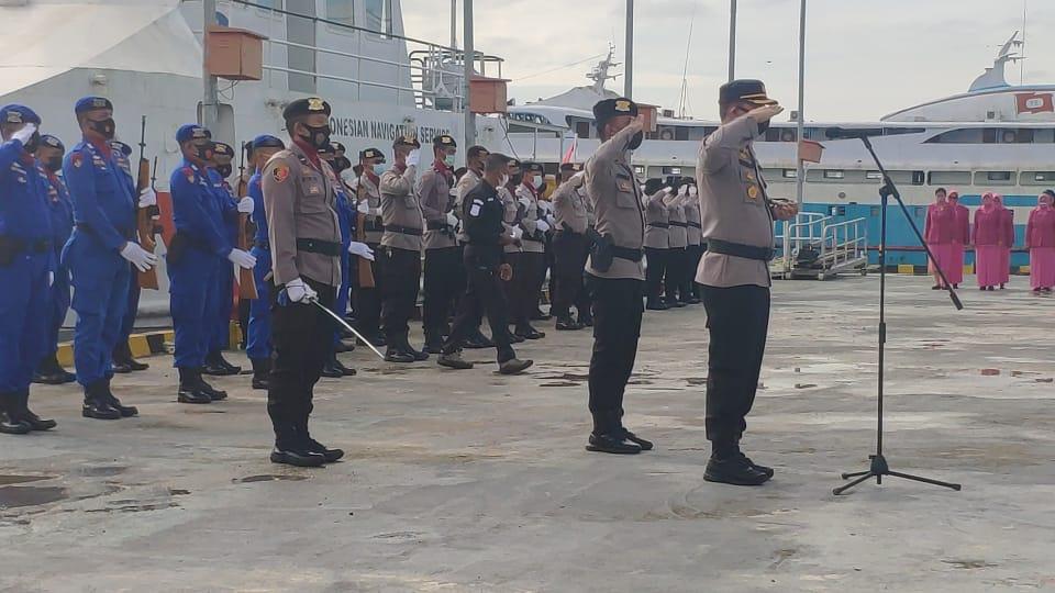 HUT Bhayangkara Ke 75, Kapolres Sorong Pimpin Upacara Ziarah LAUT