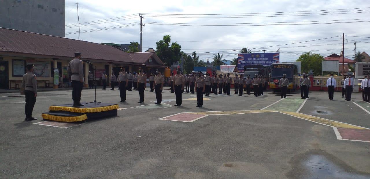 Upacara Korp Raport Polres Sorong