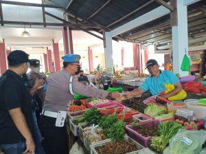 Polres Sorong Minta Pengunjung Pasar Disiplin Prokes