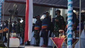 Kapolres Sorong Hadiri Upacara Pelepasan Kirab Api PON ke-XX Papua Tahun 2021.