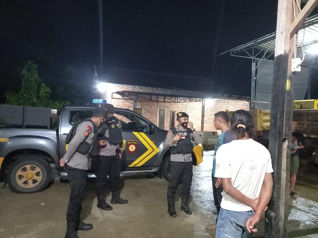 Patroli Malam, Piket Patroli Motor (Patmor) Sat. Sabhara Sambangi Warga