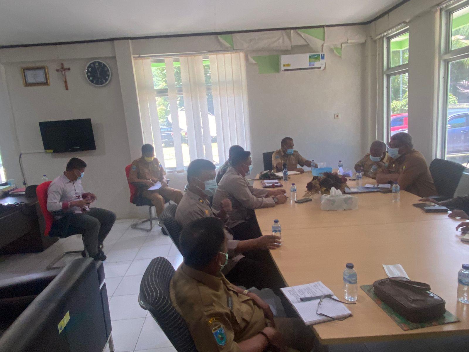Kapolres Sorong Hadiri Rapat Koordinasi Kesiapan Kunker Kementrian Kelautan dan Perikanan RI dan peninjauan lokasi