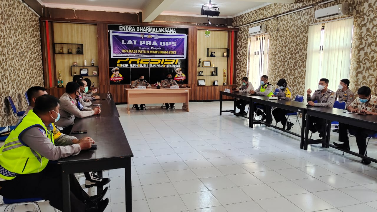 Polres Sorong Gelar Lat Pra Ops Patuh Mansinam 2021