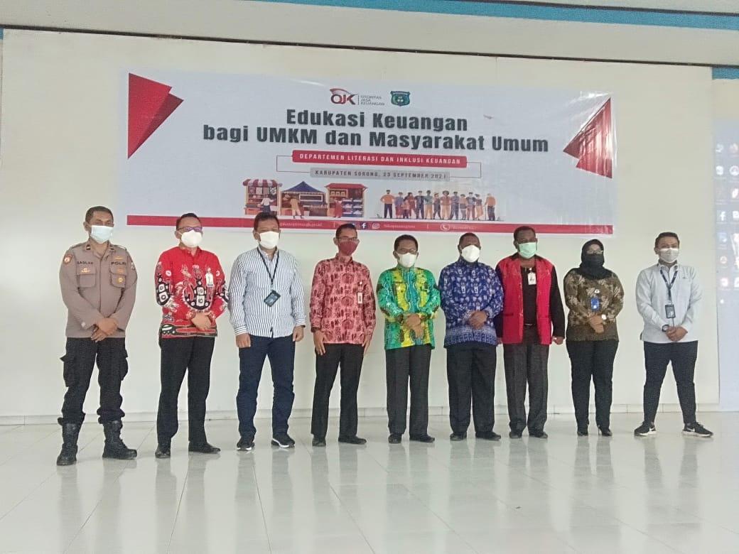 Kapolsek Salawati Di Wakili Waka Polsek Hadiri Kegiatan Edukasi Keuangan Bagi UMKM Dan Masyarakat Umum