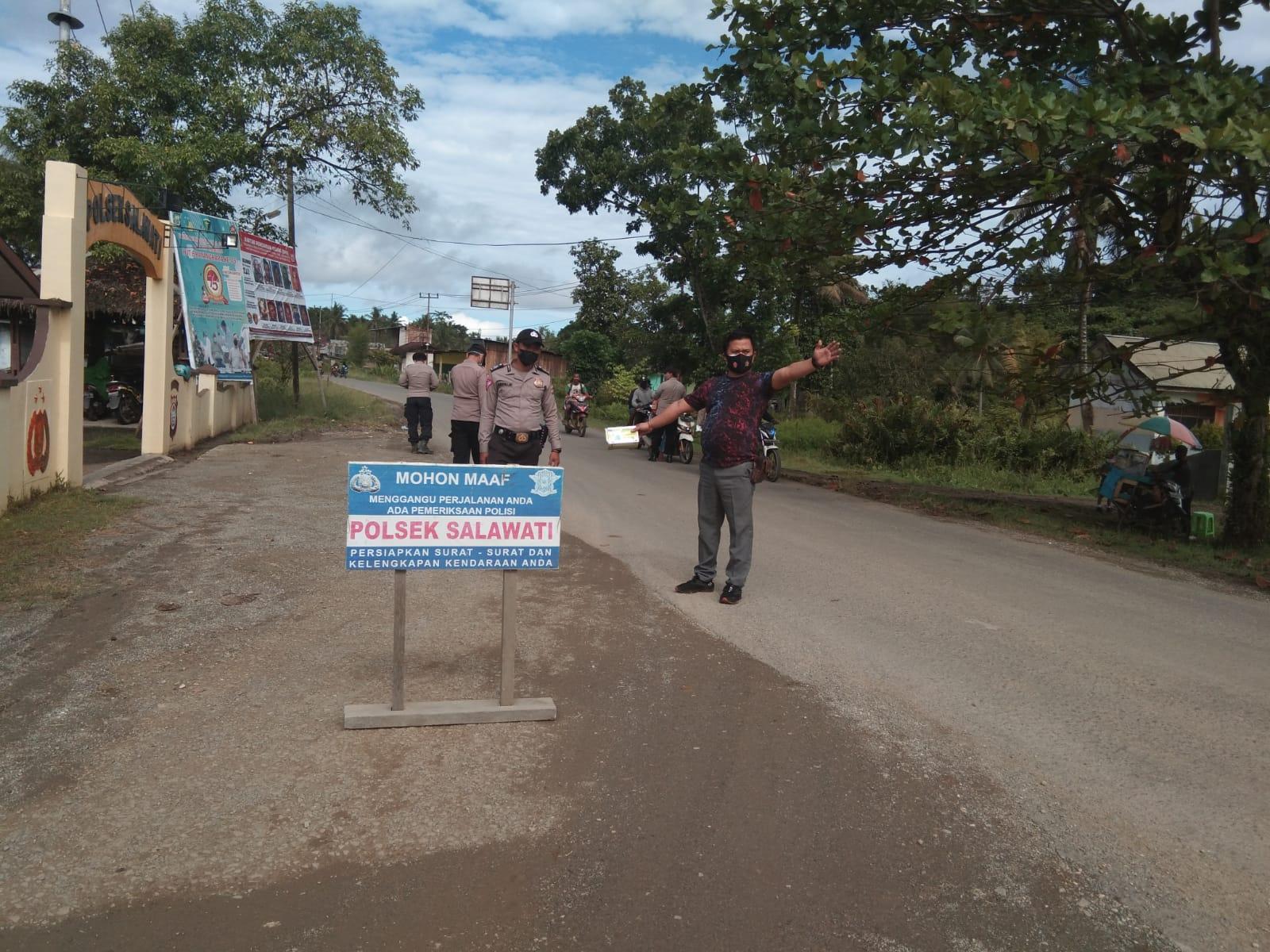 Polsek Salawati gelar Operasi Imbangan mendukung Operasi Patuh Mansinam