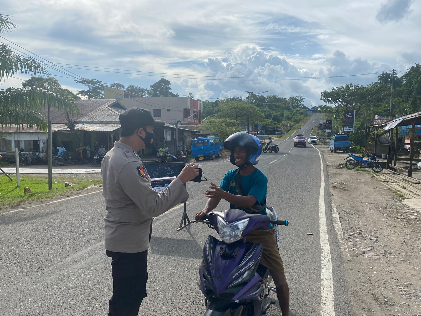 Polsek Beraur gelar Operasi Imbangan mendukung Operasi Patuh Mansinam 2021