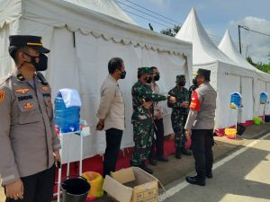 Kapolres Sorong Pimpin Langsung Pengamanan Kunjungan Kerja Presiden RI Di Aimas Kabupaten Sorong