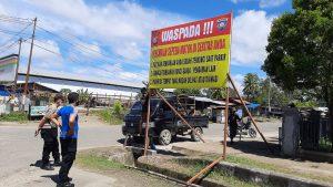 Waspada!!! Aksi Pencurian Motor, Satuan Binmas Polres Sorong Sebar Spanduk Himbauan