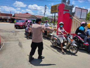 Polres Sorong Laksanakan Kegiatan Rutin Yang Di Tingkatkan (KRYD) Dalam Rangka Penanganan Covid-19