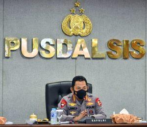 Dipimpin Kapolri, Kapolres Sorong Diwakili Waka Polres Sorong Ikuti Vicon Instruksi Kapolri Kepada Seluruh Jajarannya