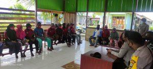 Pertemuan FKPM, Kasat Binmas Ajak Masyarakat Ciptakan Situasi Kamtibmas Aman, Damai dan Kondusif
