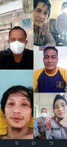 Bentuk Kepedulian, Kapolres Sorong Di Wakili Kabag Sumda Cek Anggota Yang Sakit Melalui Zoom