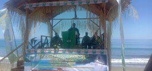 Kapolres Sorong Di Wakili Kapolsek Moraid Hadiri Ibadah Pembukaan Temu Raya Persekutuan Anak Muda (PAM)