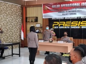 Pimpin Gelar Operasional Triwulan lll Tahun 2021, Ini Harapan Kapolres Sorong