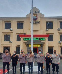 Polres Sorong MenerimaKunjungan Tim Supervisi Kehumasan Divhumas Polri Tahun 2021.